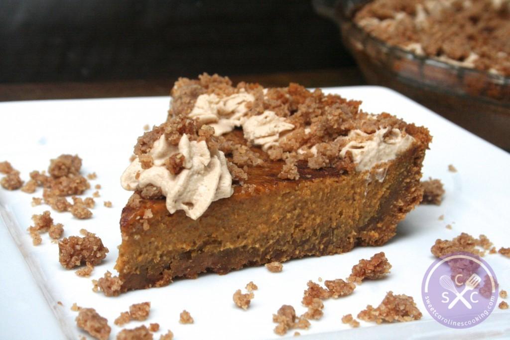gobble gobble. [pumpkin pie w. graham cracker crust ...