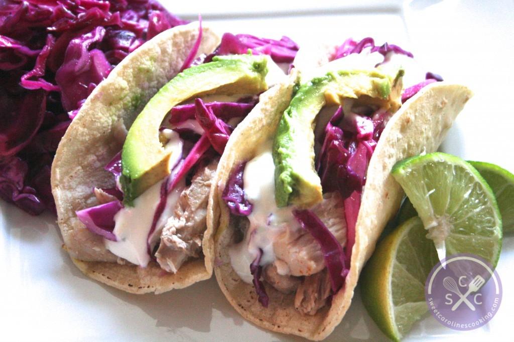 catch of the day. [tequila-lime mahi mahi tacos w. honey-lime sour ...