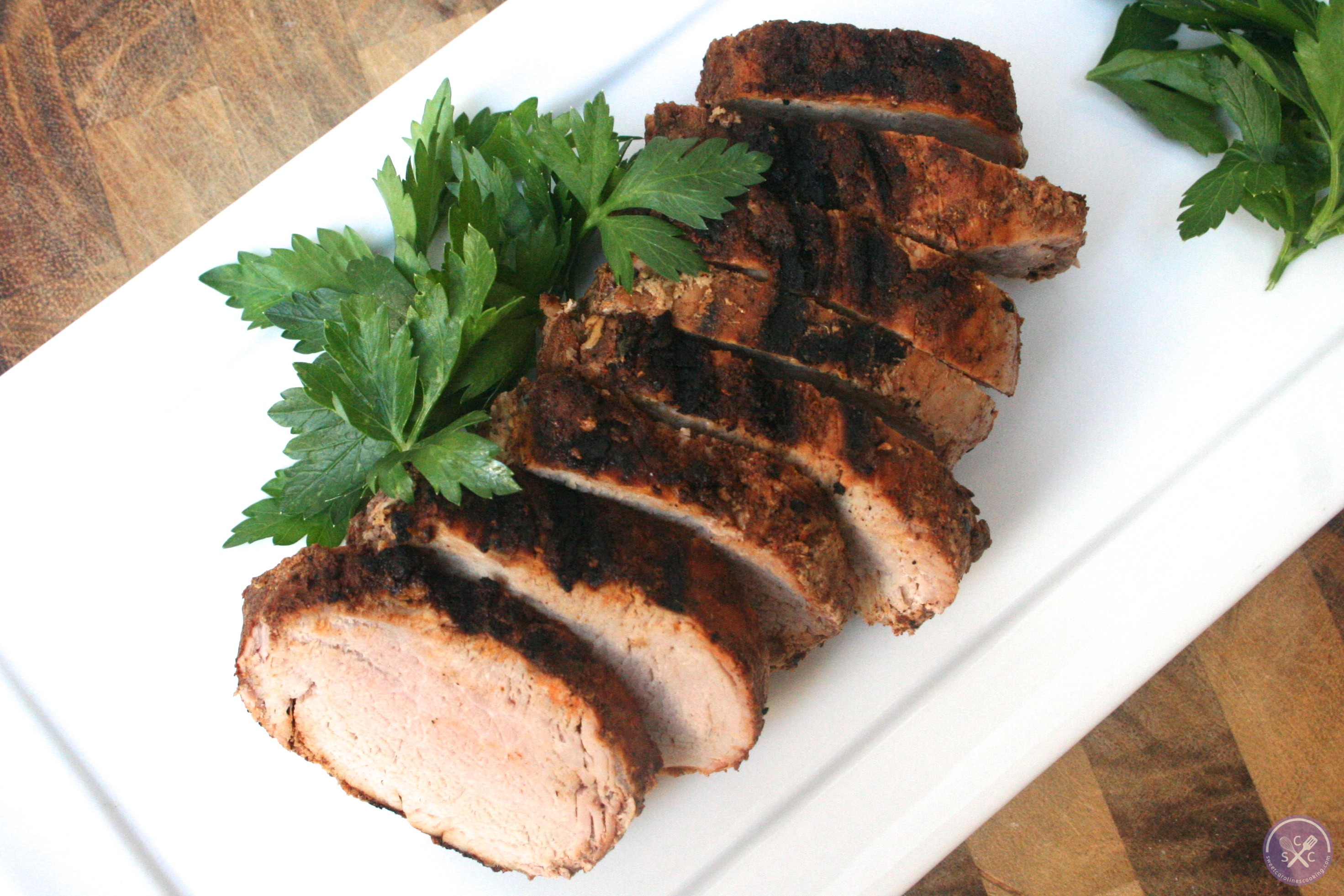 ... chile & brown sugar-rubbed pork tenderloin] - sweet caroline's co...