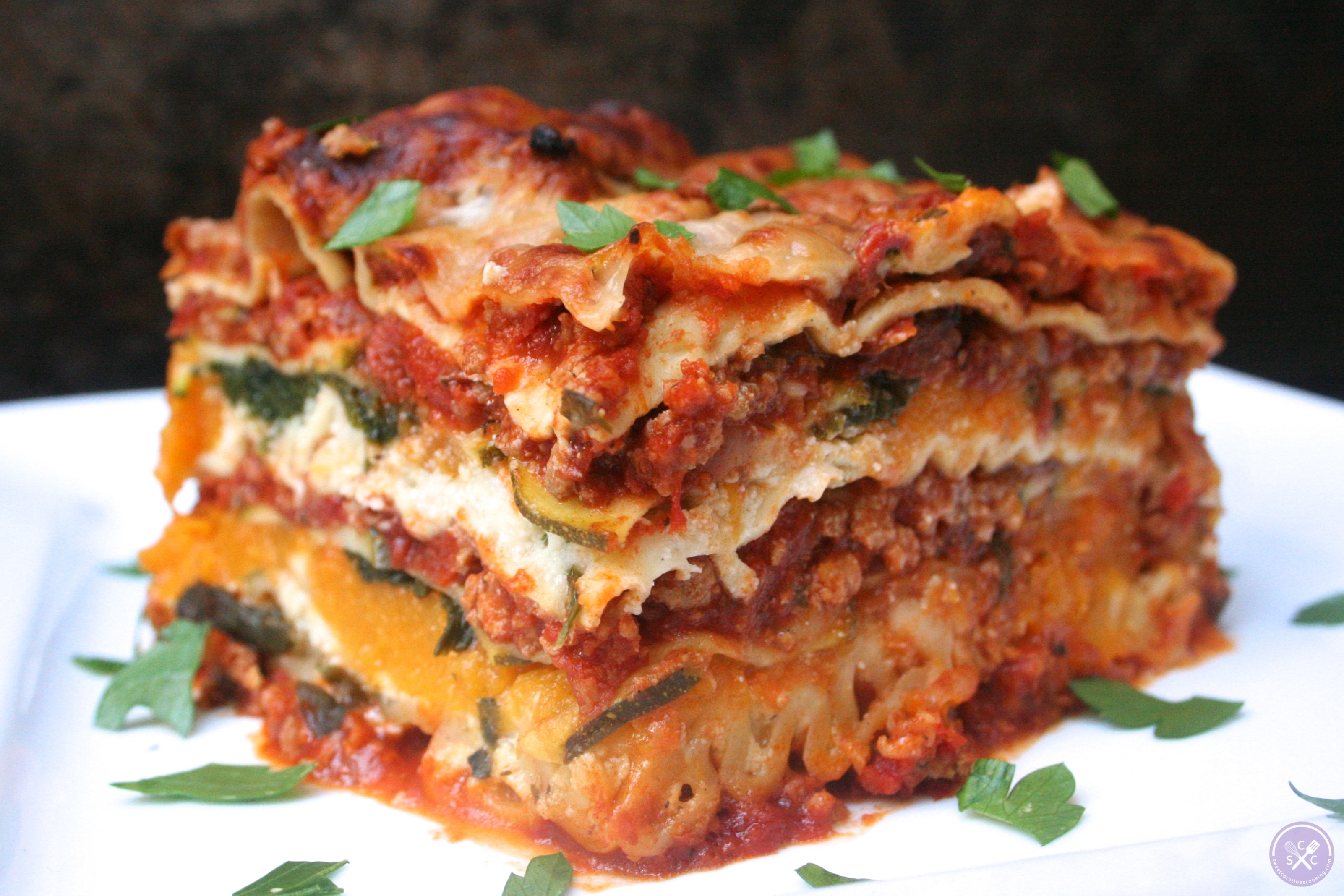 stack it up. [ground turkey lasagna w. butternut squash, zucchini ...